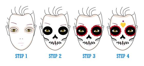 Aprenda-a-fazer-maquiagem-de-caveira-mexicana-7